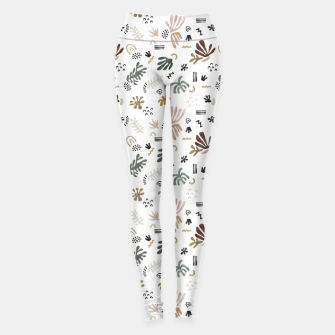 Abstract simple nature shapes Leggings Bild der Miniatur