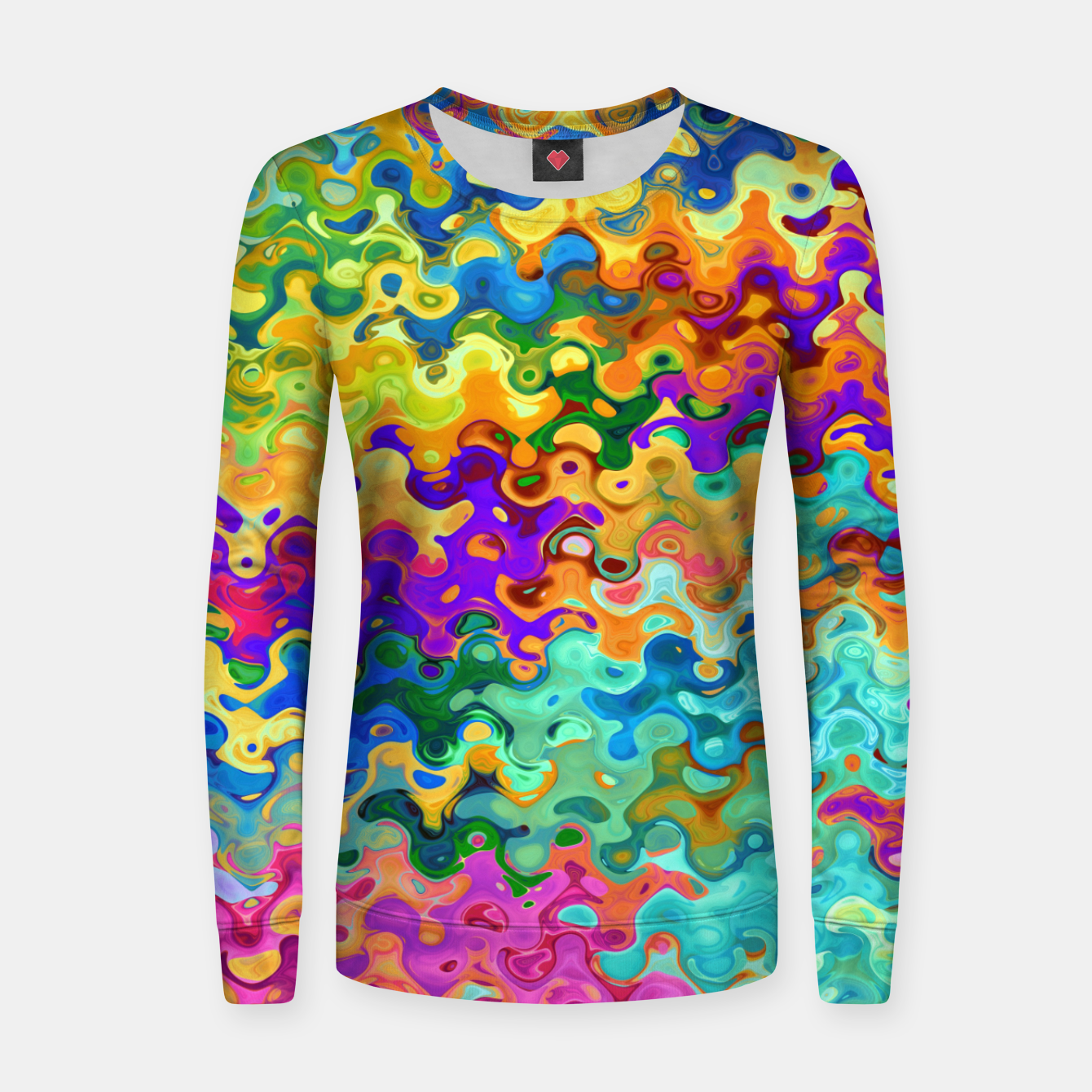 Zdjęcie Colorful Abstraction Women sweater - Live Heroes
