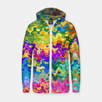 Miniatur Colorful Abstraction Zip up hoodie, Live Heroes