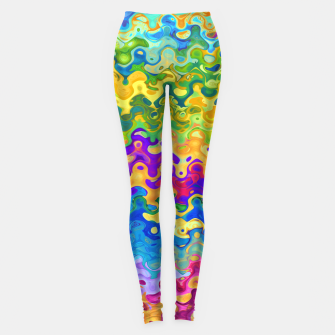 Miniatur Colorful Abstraction Leggings, Live Heroes