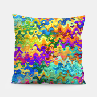 Miniatur Colorful Abstraction Pillow, Live Heroes