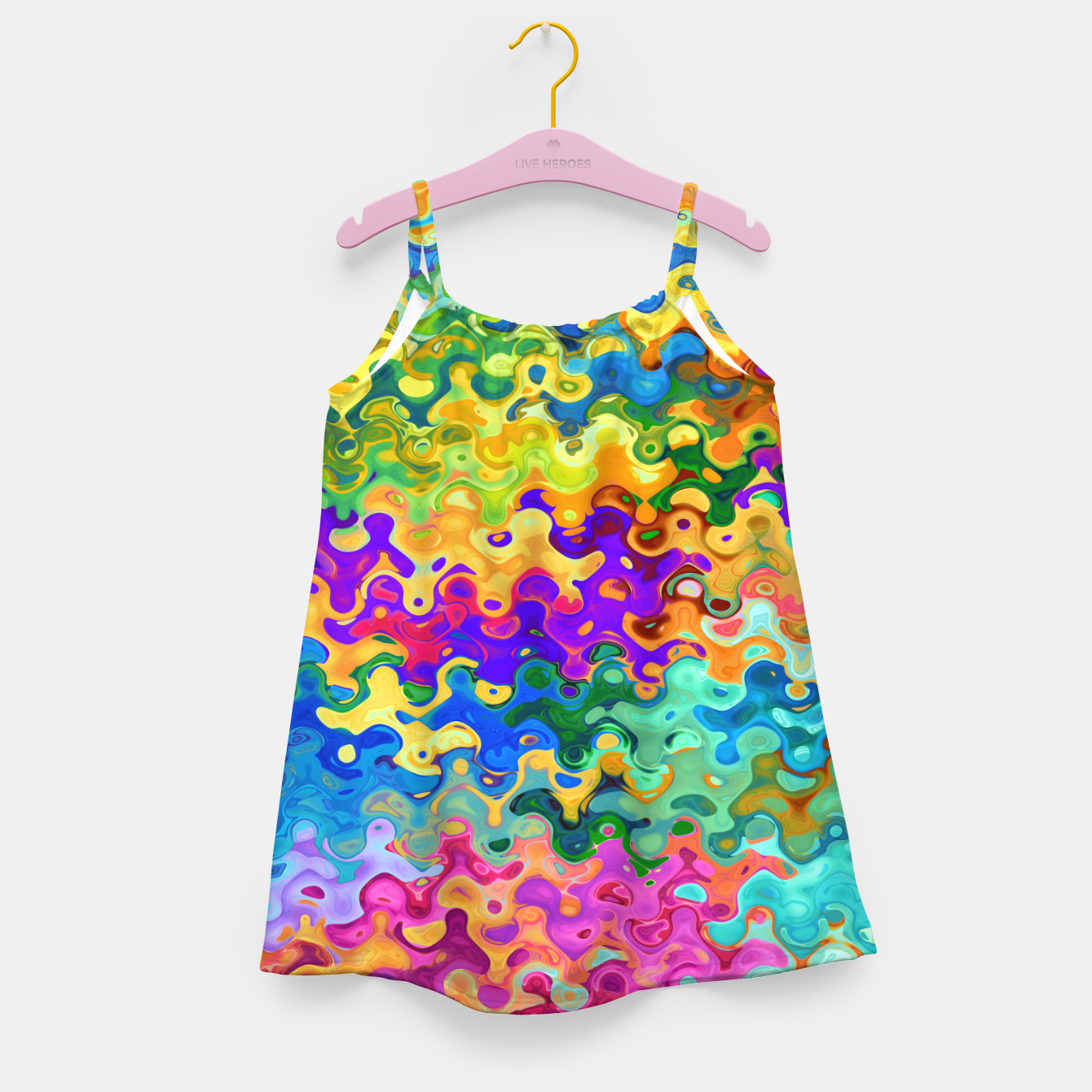 Zdjęcie Colorful Abstraction Girl's dress - Live Heroes