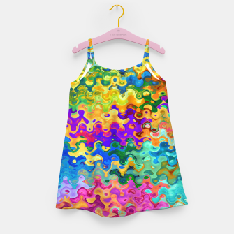 Miniatur Colorful Abstraction Girl's dress, Live Heroes