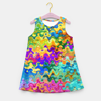 Miniatur Colorful Abstraction Girl's summer dress, Live Heroes
