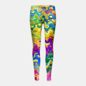 Miniatur Colorful Abstraction Girl's leggings, Live Heroes