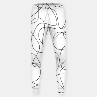 Abstract pattern - black and white. Sweatpants thumbnail image