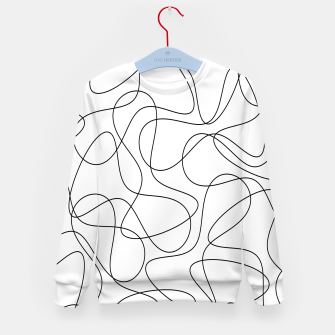 Abstract pattern - black and white. Kid's sweater thumbnail image