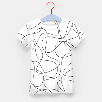Abstract pattern - black and white. Kid's t-shirt thumbnail image