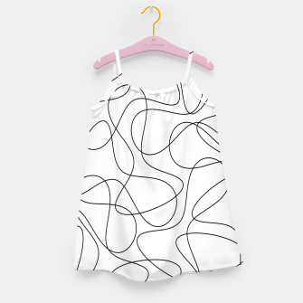 Abstract pattern - black and white. Girl's dress thumbnail image