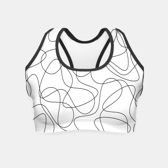 Abstract pattern - black and white. Crop Top thumbnail image