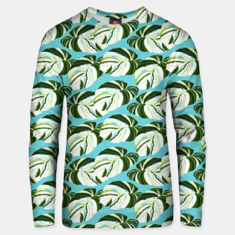 Thumbnail image of Summer Monstera II Unisex sweater, Live Heroes