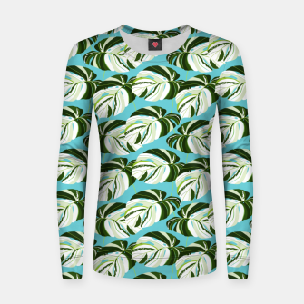 Thumbnail image of Summer Monstera II Women sweater, Live Heroes
