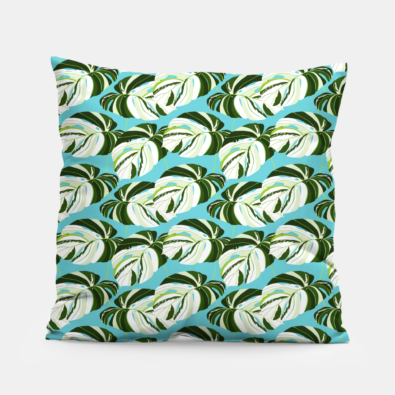 Image of Summer Monstera II Pillow - Live Heroes