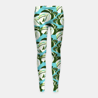 Thumbnail image of Summer Monstera II Girl's leggings, Live Heroes