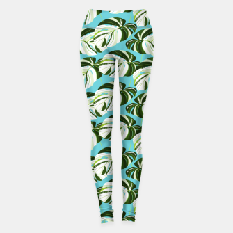 Thumbnail image of Summer Monstera II Leggings, Live Heroes