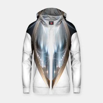 The Cradel Fractal Art Composition INV Zip up hoodie thumbnail image