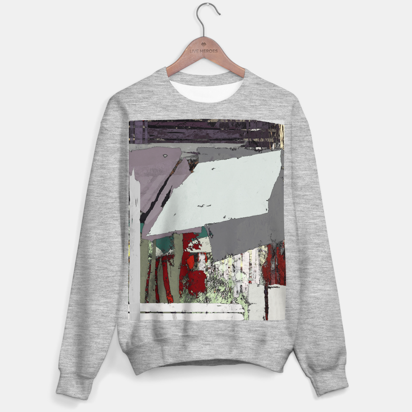 Image of The grey barrier Sweater regular - Live Heroes