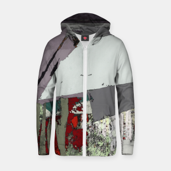 Thumbnail image of The grey barrier Zip up hoodie, Live Heroes