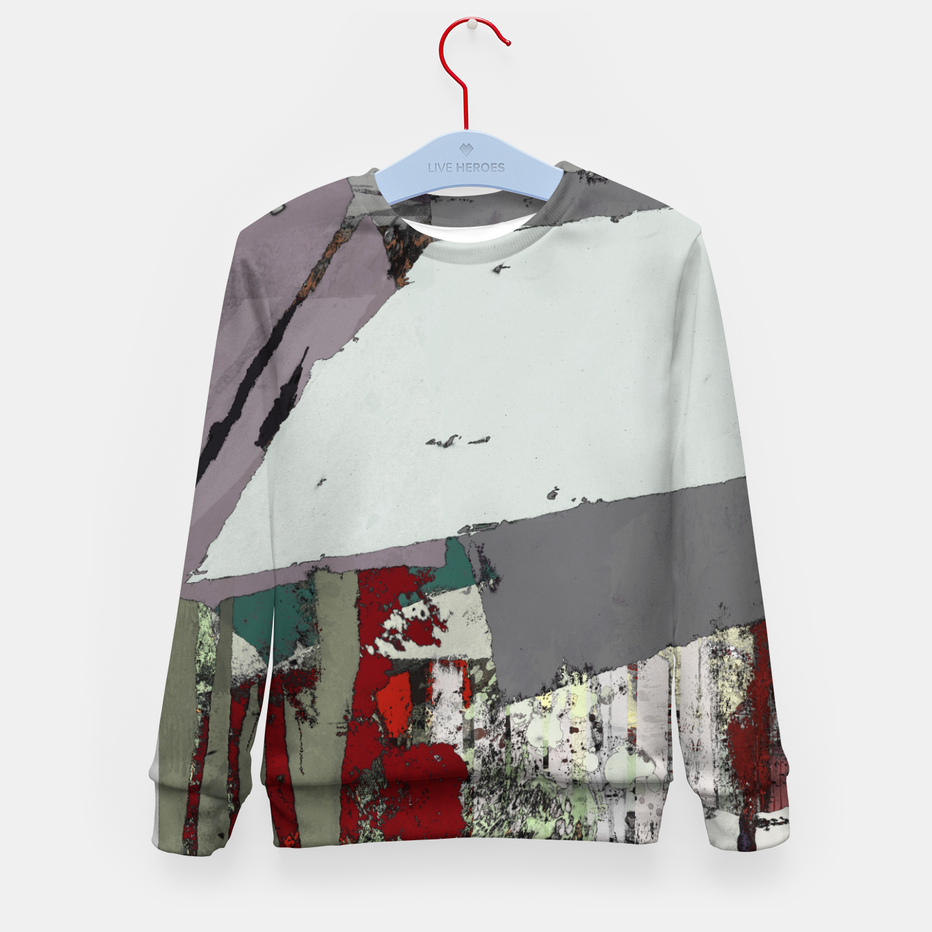 Image of The grey barrier Kid's sweater - Live Heroes