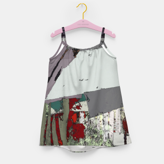 The grey barrier Girl's dress thumbnail image