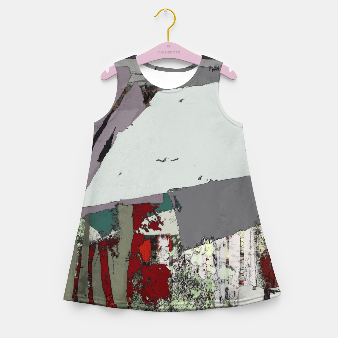 Image of The grey barrier Girl's summer dress - Live Heroes