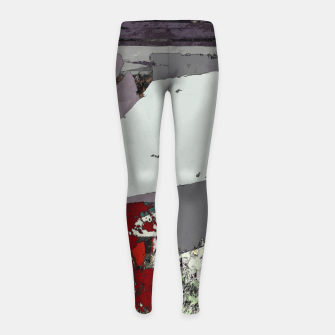 Thumbnail image of The grey barrier Girl's leggings, Live Heroes