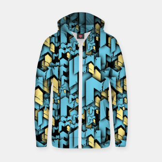 Thumbnail image of EDM Up Signature Halftone Men's Zip Up Hoodie, Live Heroes
