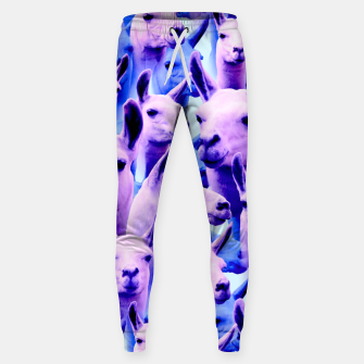 Thumbnail image of Llama Alpaca Pink Purple Cute Funny Animal Sweatpants, Live Heroes