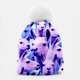 Thumbnail image of Llama Alpaca Pink Purple Cute Funny Animal Beanie, Live Heroes