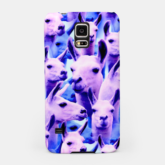Thumbnail image of Llama Alpaca Pink Purple Cute Funny Animal Samsung Case, Live Heroes