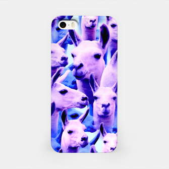 Thumbnail image of Llama Alpaca Pink Purple Cute Funny Animal iPhone Case, Live Heroes