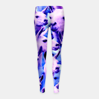 Thumbnail image of Llama Alpaca Pink Purple Cute Funny Animal Girl's leggings, Live Heroes