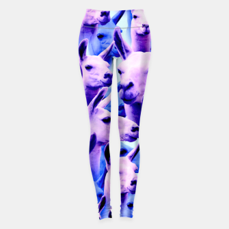 Thumbnail image of Llama Alpaca Pink Purple Cute Funny Animal Leggings, Live Heroes