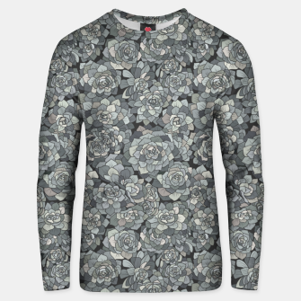 Thumbnail image of Succulents garden in stone grey Unisex sweater, Live Heroes