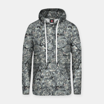 Thumbnail image of Succulents garden in stone grey Hoodie, Live Heroes
