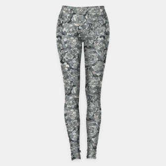 Miniatur Succulents garden in stone grey Leggings, Live Heroes