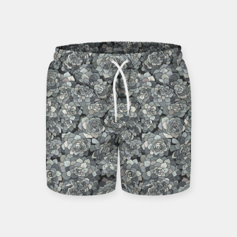 Miniatur Succulents garden in stone grey Swim Shorts, Live Heroes