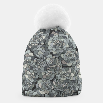 Thumbnail image of Succulents garden in stone grey Beanie, Live Heroes