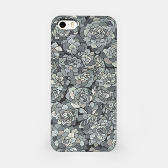 Miniatur Succulents garden in stone grey iPhone Case, Live Heroes