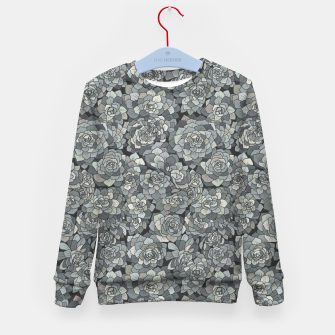 Miniatur Succulents garden in stone grey Kid's sweater, Live Heroes