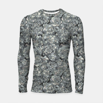 Thumbnail image of Succulents garden in stone grey Longsleeve rashguard , Live Heroes