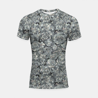 Thumbnail image of Succulents garden in stone grey Shortsleeve rashguard, Live Heroes