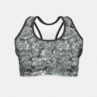 Miniatur Succulents garden in stone grey Crop Top, Live Heroes