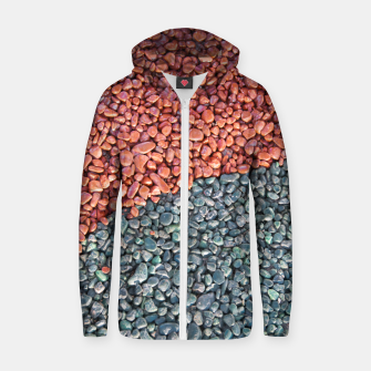 Thumbnail image of Gravel Print Pattern Texture Zip up hoodie, Live Heroes