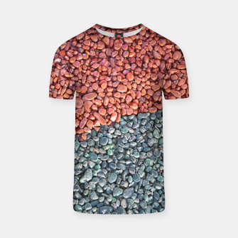 Thumbnail image of Gravel Print Pattern Texture T-shirt, Live Heroes
