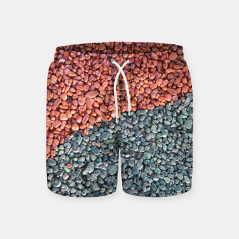 Thumbnail image of Gravel Print Pattern Texture Swim Shorts, Live Heroes