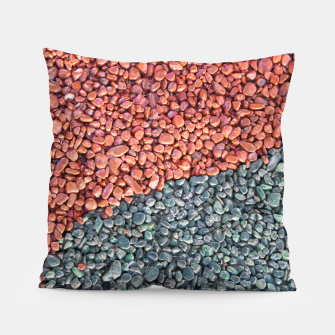 Thumbnail image of Gravel Print Pattern Texture Pillow, Live Heroes