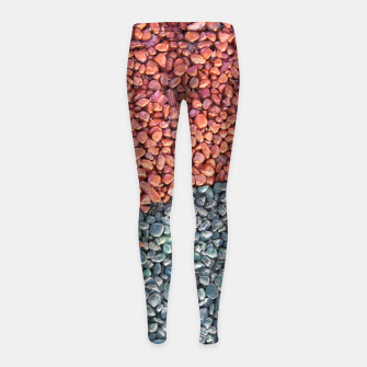 Thumbnail image of Gravel Print Pattern Texture Girl's leggings, Live Heroes