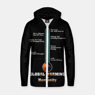 Miniature de image de Global Warming A War On Humanity Zip up hoodie, Live Heroes