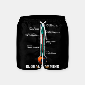 Miniature de image de Global Warming A War On Humanity Swim Shorts, Live Heroes